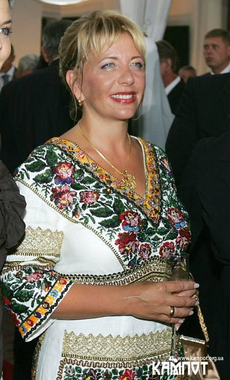Former 1st Lady of Ukraine wearing national embroidery
