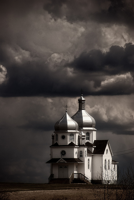 Ukrainian Church, Alberta by calakmul
